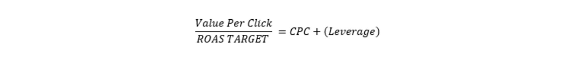 value per click roas target google shoppping